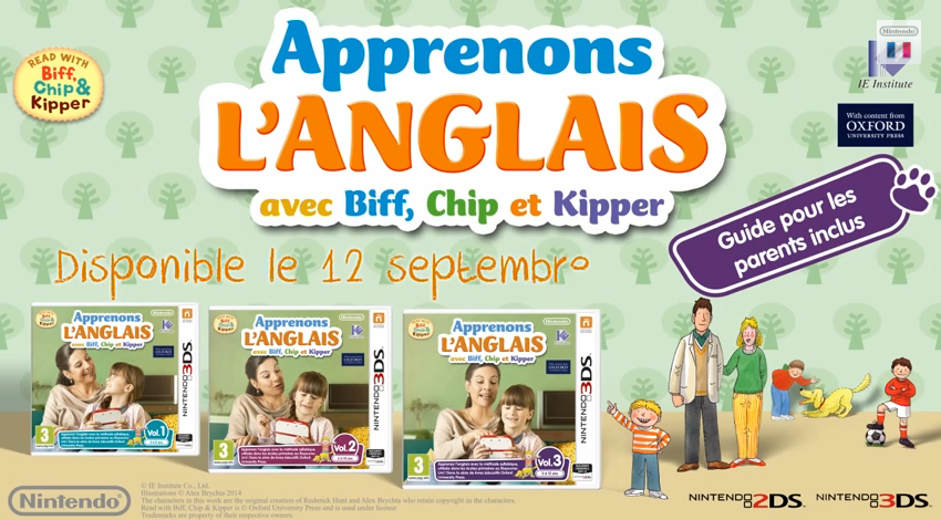 Illustration de l'article sur Apprenons l'anglais avecBiff, Chip et Kipper
