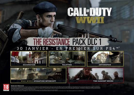 Illustration de l'article sur Call of Duty: WWII The Resistance