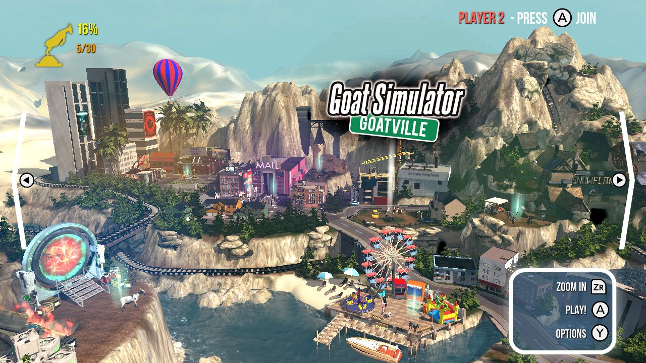 Illustration de l'article sur Goat Simulator: The GOATYest disponible sur Switch