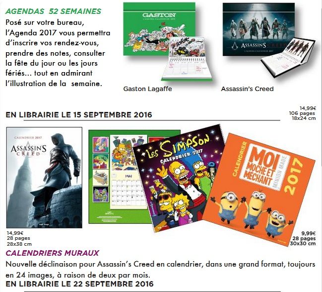 Illustration de l'article sur Calendriers / Agendas 2017
