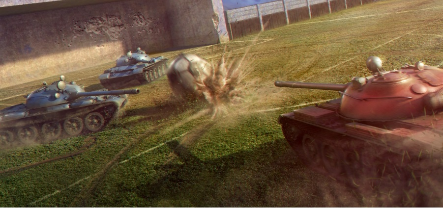 Illustration de l'article sur Du football dans World of Tanks !
